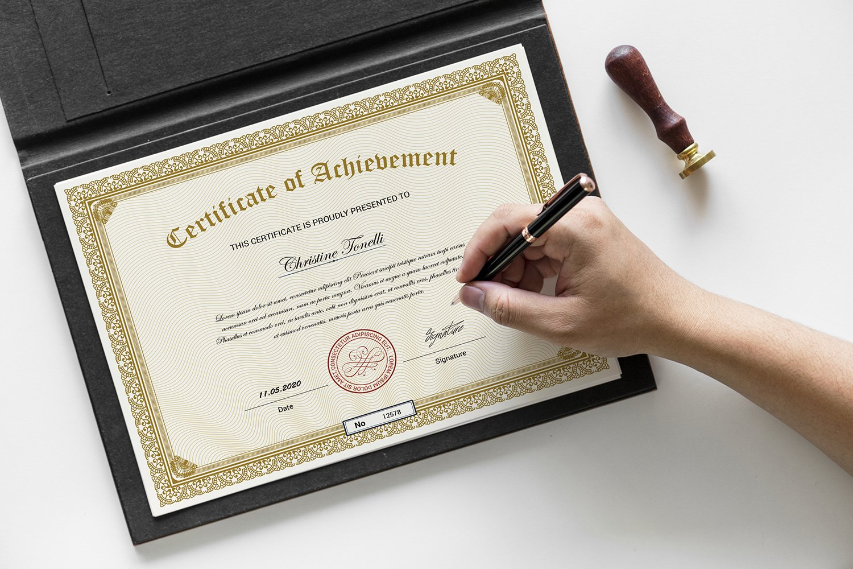 """""""Achievement"""" modèle de certificat  #118668"""