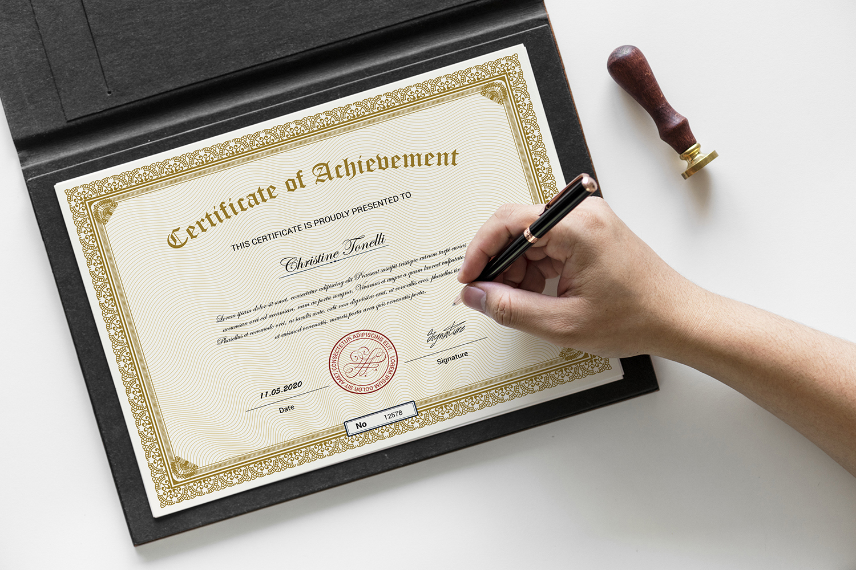 Achievement Template de Certificado №118668