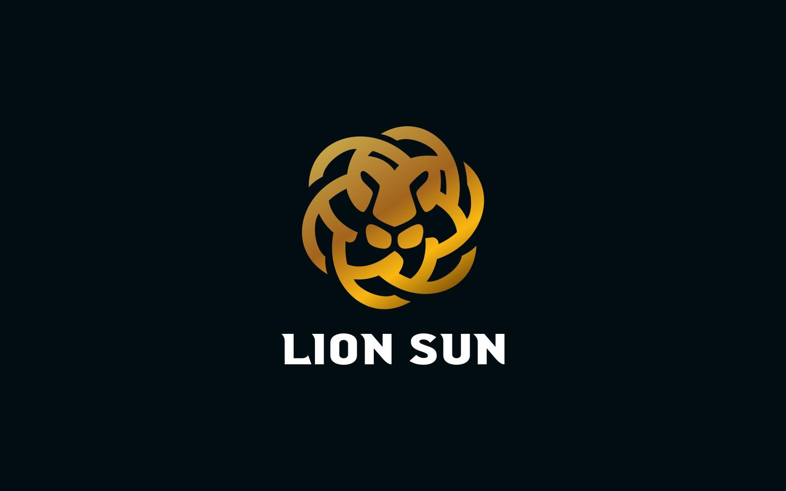 """Modello di Loghi #118754 """"Lion Sun"""""""