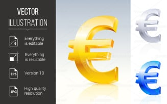 Abstract Euro Sign - Vector Image