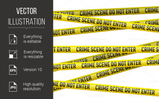Police Danger Tape - Vector Image