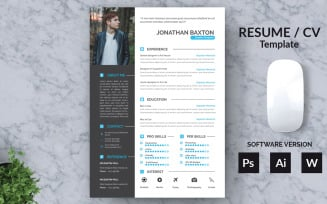 Word Baxton Resume Template
