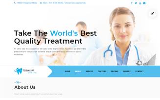 Dental -Clinic Landing Page Template