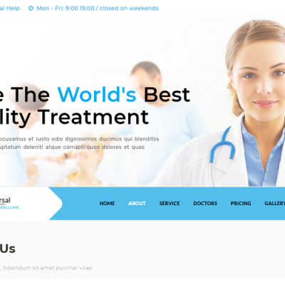 Dental -Clinic Landing Page Template #118996