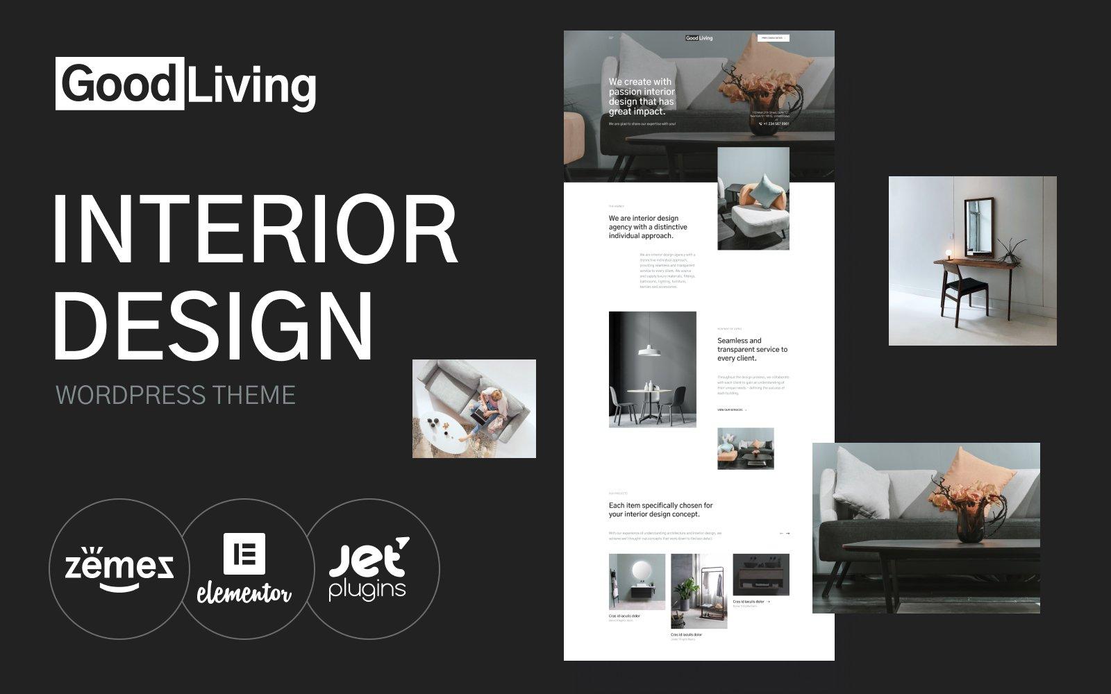 GoodLiving - Interior Design Tema WordPress №118998