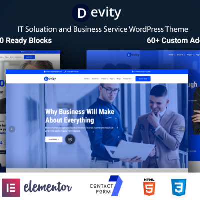 "WordPress Theme namens ""Devity - IT Solutions Business Service"" #118995"