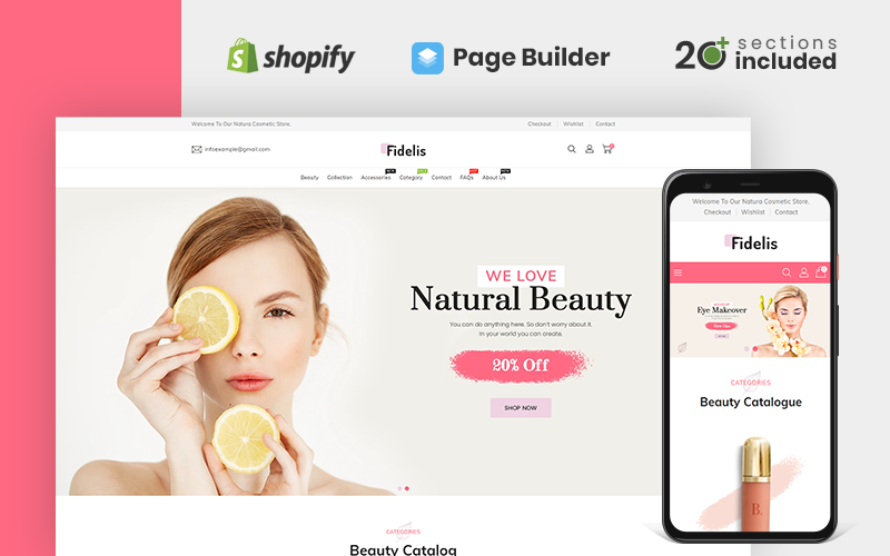 Fidelis Cosmetics Store Shopify Theme