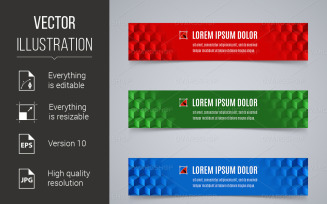 Abstract Banners - Vector Image