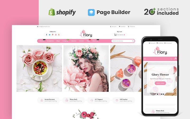 """Flory Flower Store"" thème Shopify adaptatif #119142"