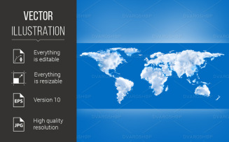 Map of the world - Vector Image