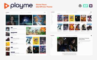 PLAYME - Video Games News WordPress Theme
