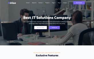 Privine - IT Solutions & Business Services Website Template