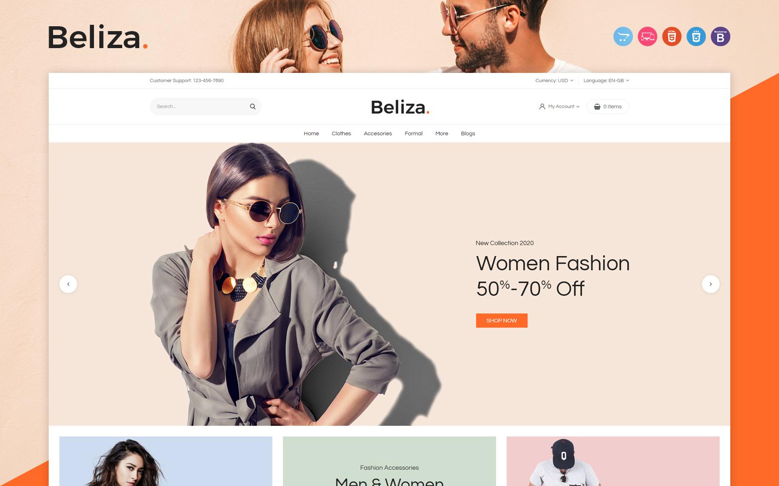 """Responzivní OpenCart šablona """"Beliza"""" #119284"""