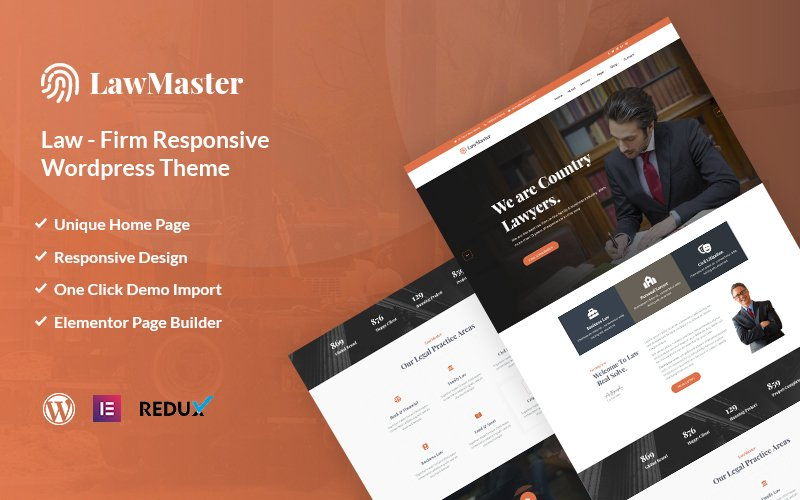 """Tema De WordPress """"Lawmaster-  Lawyer, Attorney and Law Office"""" #119281"""