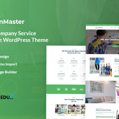 "WordPress шаблон ""Cleanmaster - Cleaning Service Responsive WordPress Theme"" #119283"