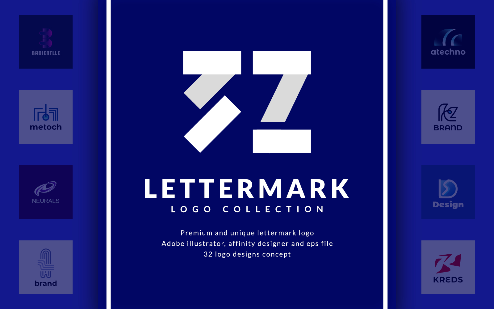 "Template di Loghi #119491 ""32 Lettermark - Collection"""
