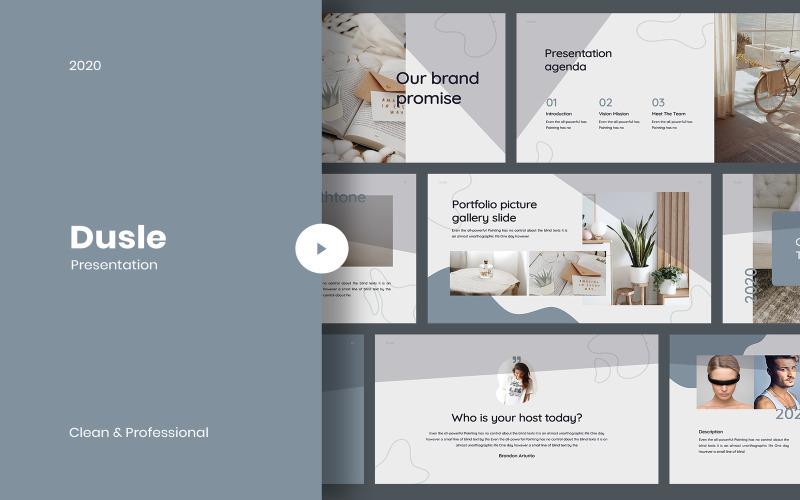 Dusle - Creative PowerPoint template PowerPoint Template