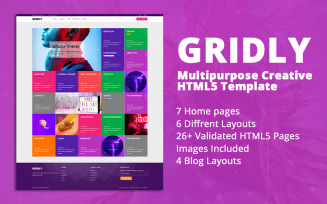 Gridly | Multipurpose Creative HTML5 Website Template