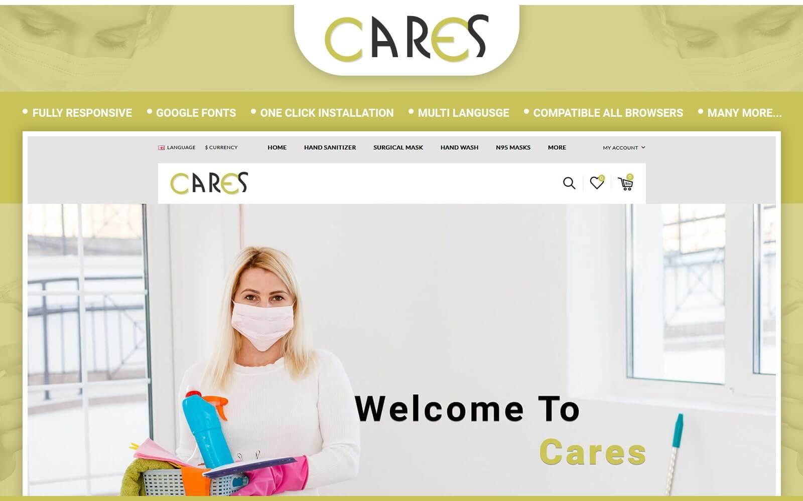 """Responzivní OpenCart šablona """"Cares - Sanitizer Store"""" #119542"""