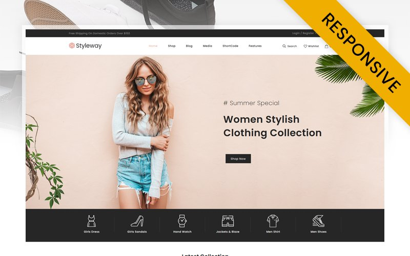 """Styleway - Online Fashion Store"" Responsive WooCommerce Thema №119538"