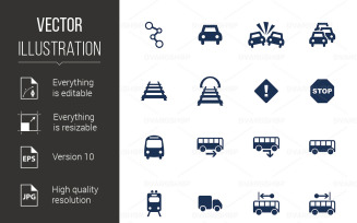 Transportation Icons - Vector Image