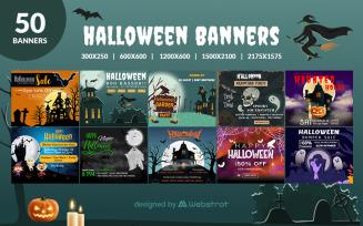 50 Halloween Banners Social Media Template