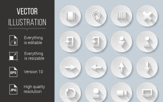 Paper Icons - Vector Image