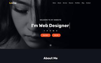 Lavina - Personal Portfolio Landing Page Template