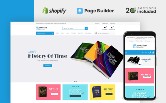 Creative Books Store Shopify Theme