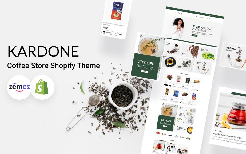 Responsywny szablon Shopify KarDone - Coffee Store #119824