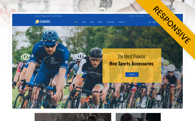 "WooCommerce Theme namens ""Starspo - The Sports Store"" #119816"