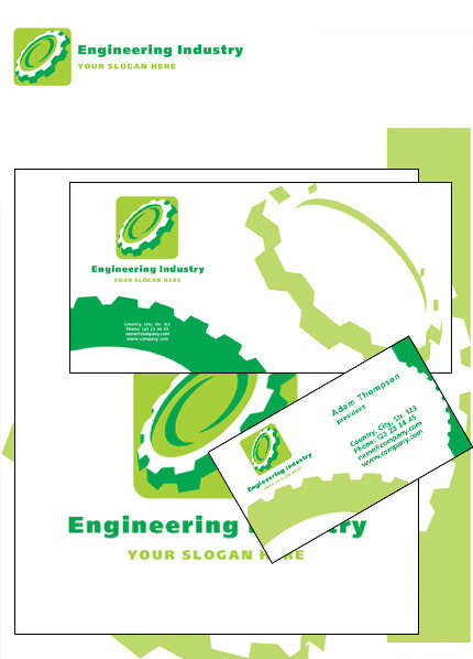 Civil Engineering Corporate Identity Template Vector Corporate Identity preview