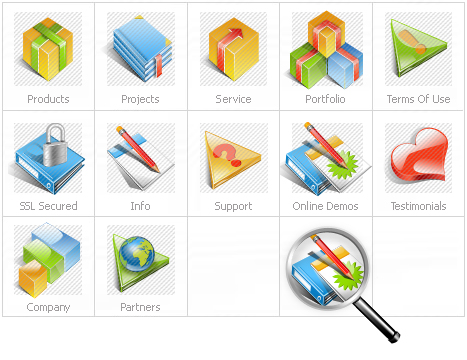 Icon Set Template 12060 Screenshots