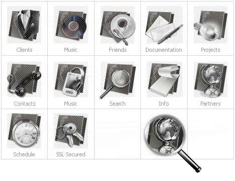 Icon Set Template 12063 Screenshots