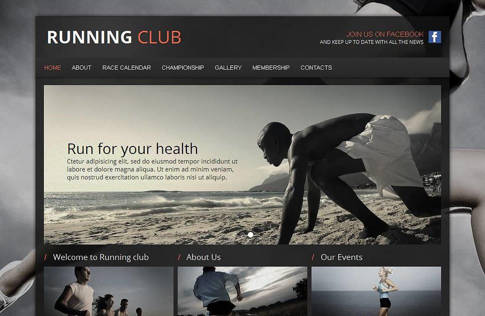 Running Website Template for Sport Fans MotoCMS