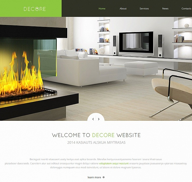 Home Interiors Website: Home Decor Website Template In Minimalist Style
