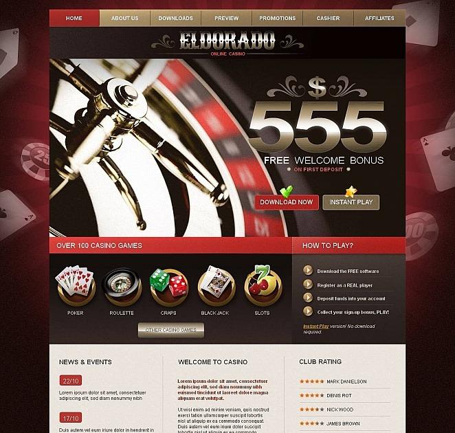 Шаблоны сайтов казино