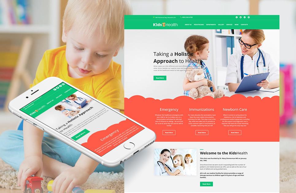 pediatrician website template for kids health clinic motocms. Black Bedroom Furniture Sets. Home Design Ideas