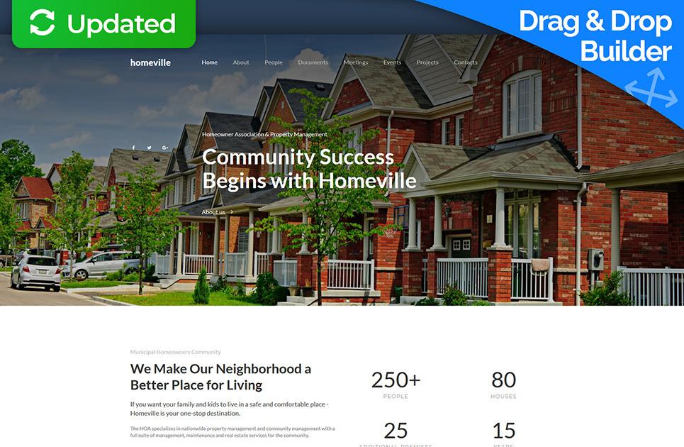Homeowners Association Website Template Hoa Site Motocms