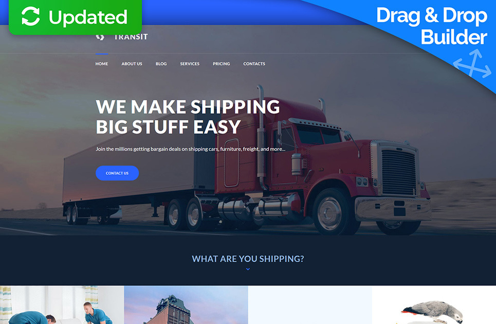 Trucking Company Website Template for Logistics Service