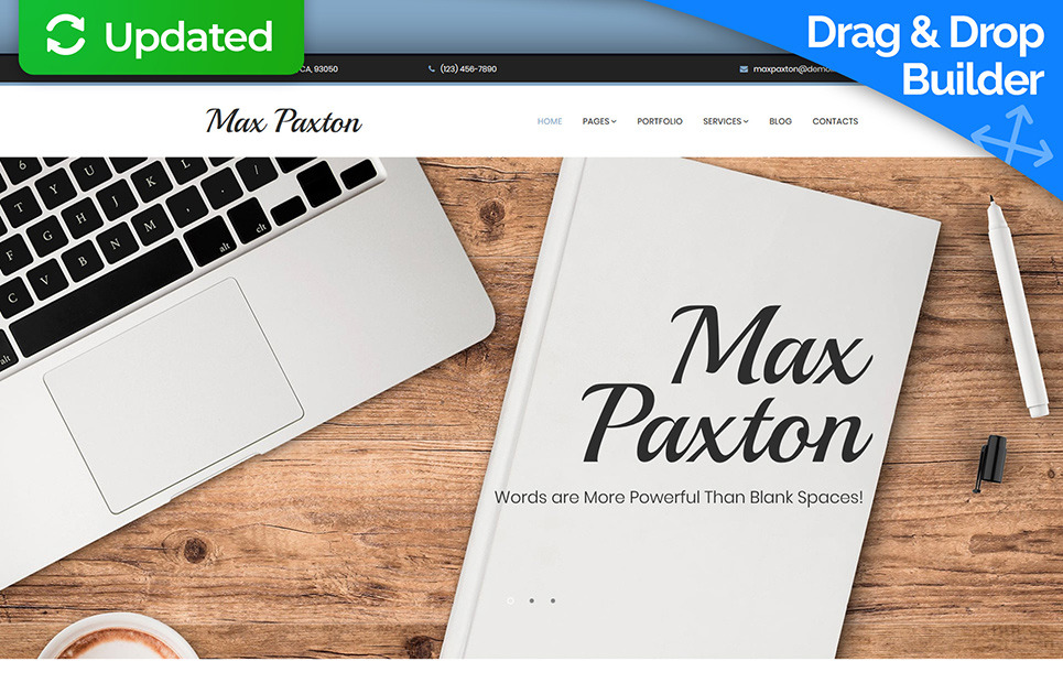 freelance writer website template for copywriter portfolio
