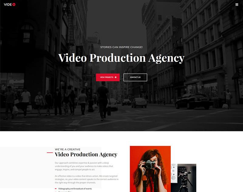 Video Portfolio Website Template For Videographer MotoCMS