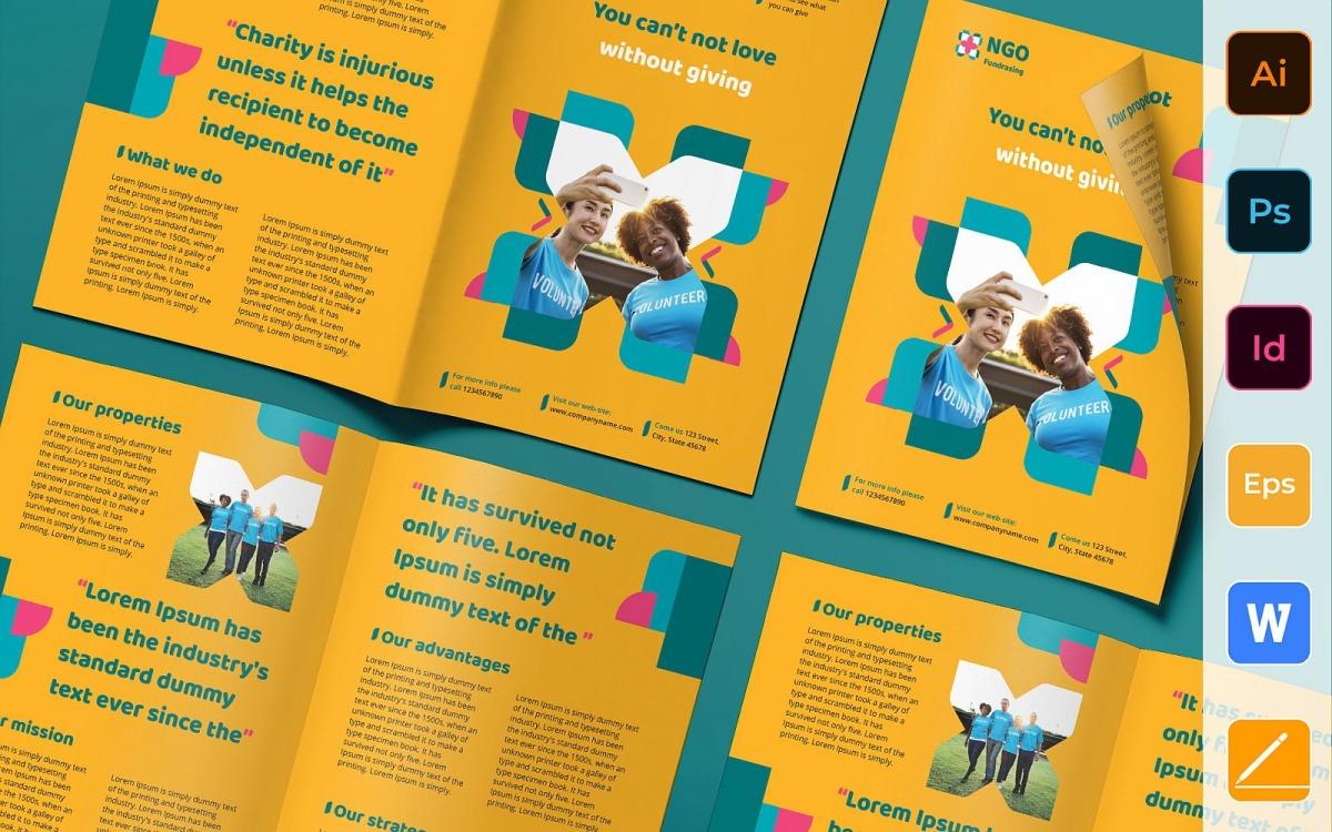 NGO Brochure Bifold - Corporate Identity Template With Ngo Brochure Templates
