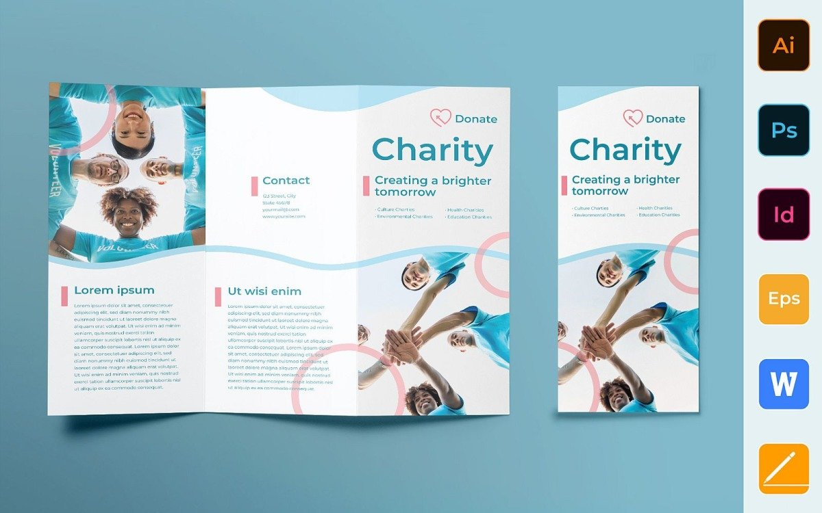 Charity Brochure Trifold - Corporate Identity Template Pertaining To Ngo Brochure Templates