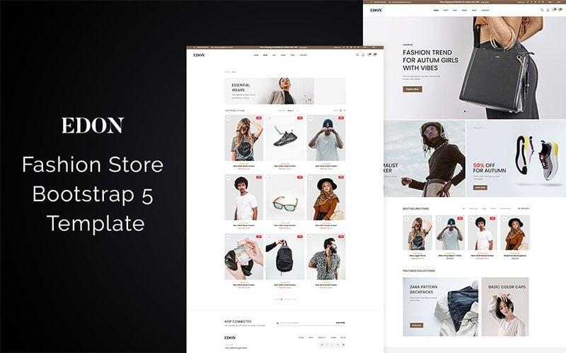 Edon Fashion Store Bootstrap 5 Website Template