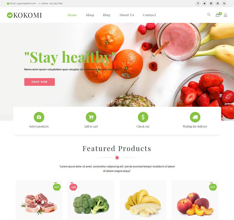 Kokomi - Organic & Food WordPress WooCommerce Theme