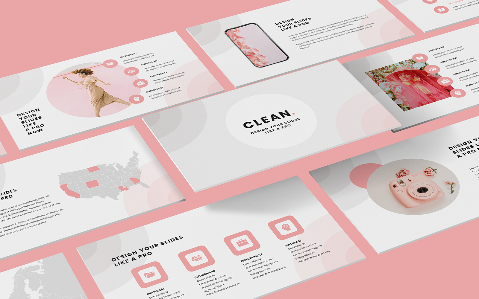 Professional Pink PowerPoint Template