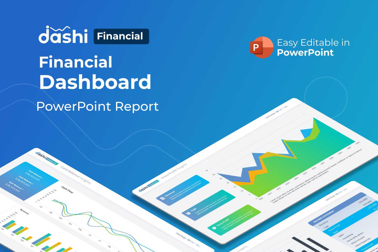 Dashi Financial – Financial Dashboard Report Presentation PowerPoint Template