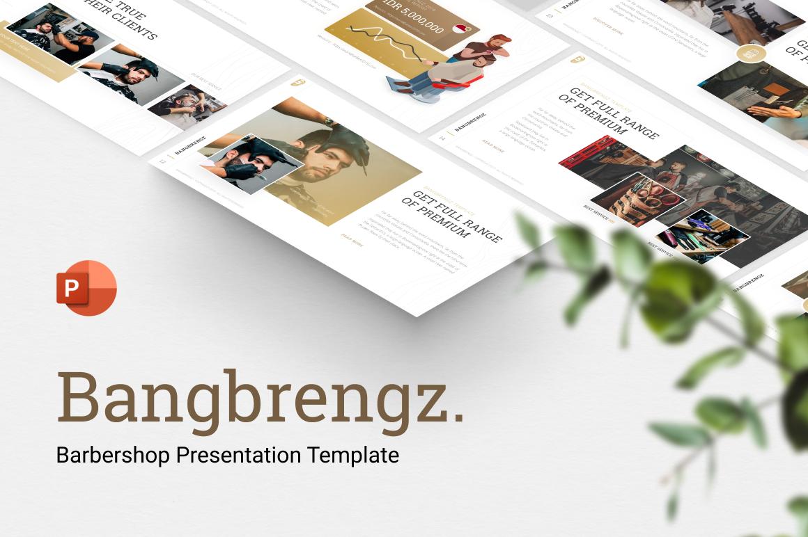 Bangbrengz - Barbershop Presentation Template PowerPoint Template