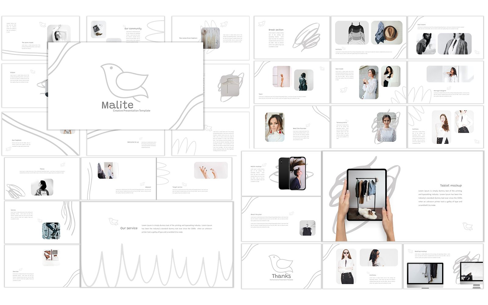 Responsivt Malite Google Slides #120126